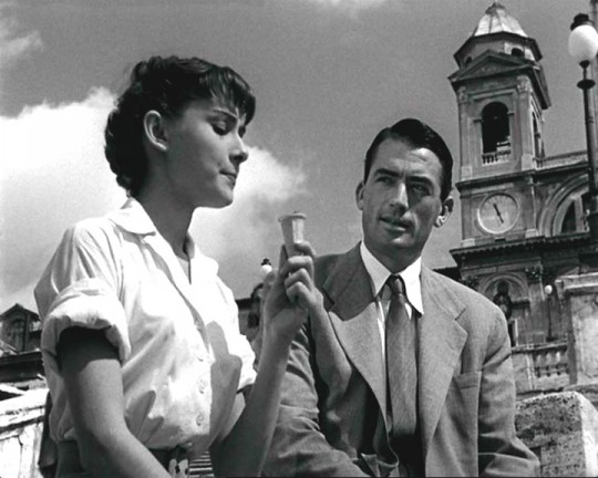 Peck and Hepburn in Roman Holiday