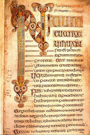 Nitium Page from the Book of Durrow