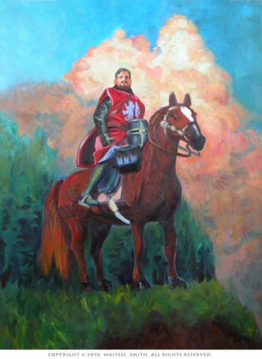 Red Knight - Original Oil Painting by Artist Waitsel Smith