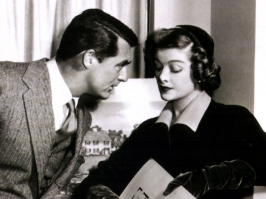 Cary Grant and Myrna Loy in Mr. Blandings Builds His Dream House