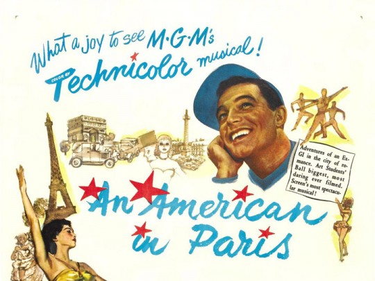 An American In Paris starring Gene Kelly and Leslie Caron