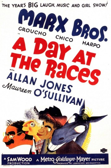 Poster for A Day At The Races starring the Marx Brothers