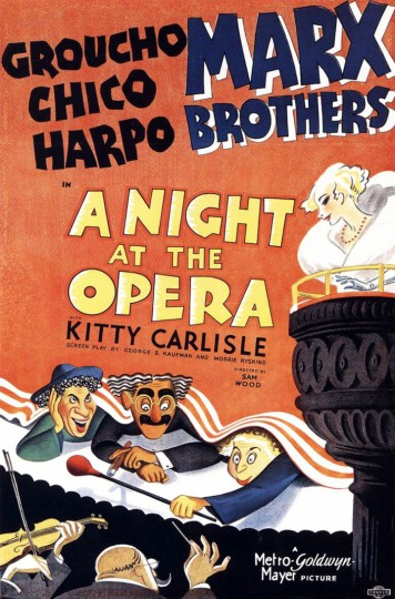 Poster for A Night At The Opera starring the Marx Brothers