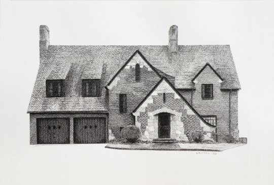 Mullis House - pen & ink drawing by artist Waitsel Smith