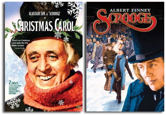 Charles Dickens' A Christmas Carol - Alastair Sim and Albert Finney as Scrooge