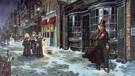 Charles Dickens' A Christmas Carol - Scrooge on Christmas Eve