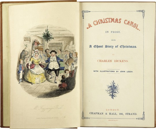 Charles Dickens' A Christmas Carol - First Edition