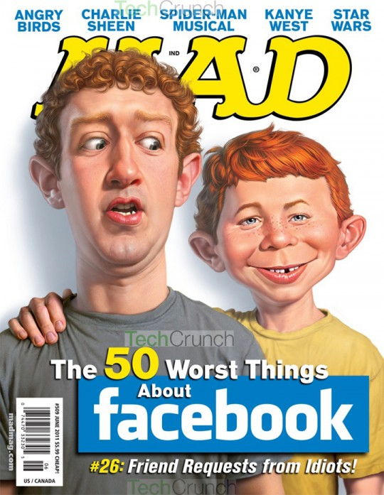 Mark Zuckerberg Mad Magazine Cover