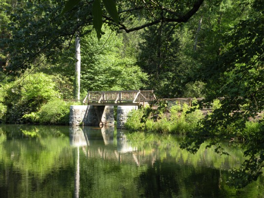Waterfall Bridge, Bass Pond, Biltmore Estate