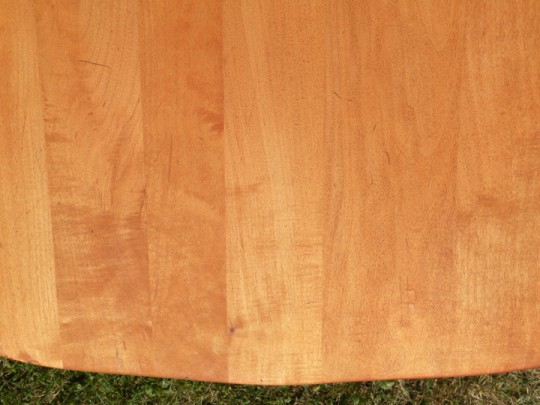 Waitsel's Refinishing Furniture - Seat of Fully Stained Chair