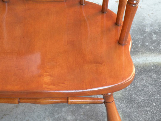 Waitsel's Refinishing Furniture - Seat of Finished Chair
