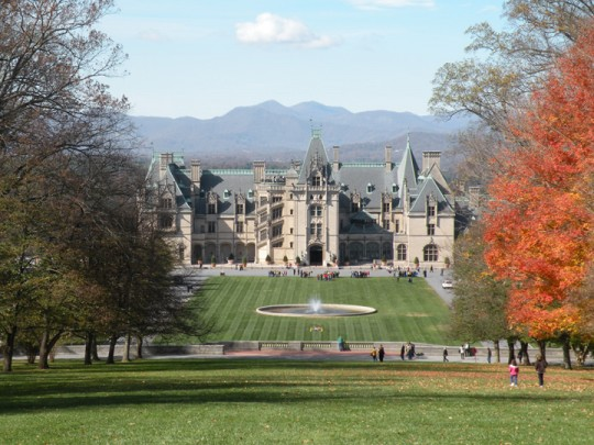 Biltmore House in Autumn Looking West