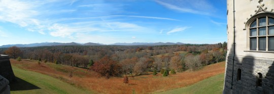 Looking West from Tapestry Gallery Terrace, Autumn, Biltmore Estate