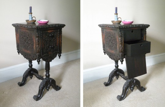 T J Stone side table