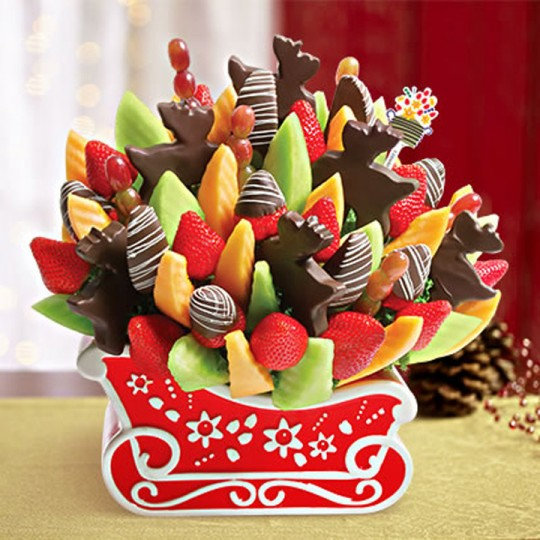 Edible Arrangements Christmas Reindeer Sleigh