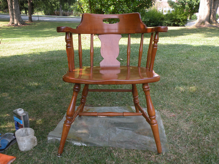refinishing furniture original chair